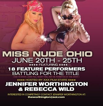 ... Miss Nude Ohio Pageant Monday, June 20 to Saturday, June 25