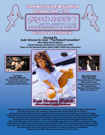 The Miss Nude Wisconsin 2009 Competition Thursday, October 14 To October, ...